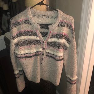 New (no tags) Free People fizzy cardigan